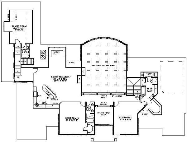 European Floor Plan - Upper Floor Plan #17-1177