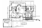 Contemporary Style House Plan - 4 Beds 3 Baths 3103 Sq/Ft Plan #451-15 Floor Plan - Main Floor Plan