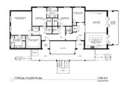 Contemporary Style House Plan - 9 Beds 6 Baths 9227 Sq/Ft Plan #535-24 Floor Plan - Main Floor Plan