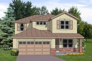 House Plan - 4 Beds 2.5 Baths 2242 Sq/Ft Plan #116-255 Exterior - Front Elevation