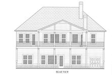 Architectural House Design - Craftsman Exterior - Rear Elevation Plan #437-122