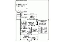 Colonial Floor Plan - Main Floor Plan Plan #137-144