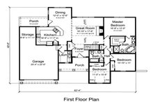 Traditional Floor Plan - Main Floor Plan Plan #46-481
