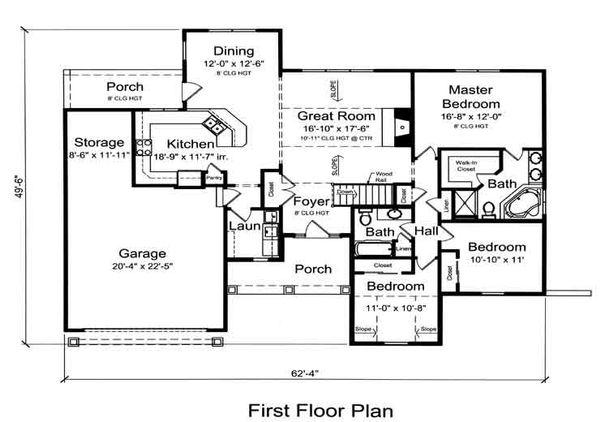 Traditional Floor Plan - Main Floor Plan Plan #46-481