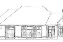Dream House Plan - Traditional Exterior - Rear Elevation Plan #72-164