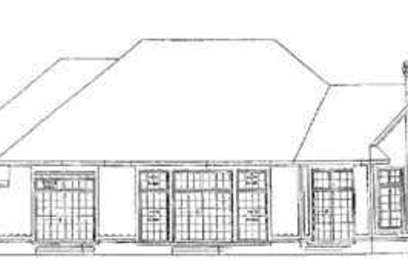 Traditional Exterior - Rear Elevation Plan #72-164 - Houseplans.com