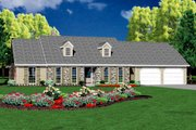 Ranch Style House Plan - 4 Beds 2.5 Baths 1997 Sq/Ft Plan #36-167 Exterior - Front Elevation