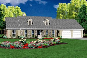 Ranch Exterior - Front Elevation Plan #36-167