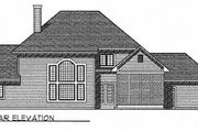 Traditional Style House Plan - 3 Beds 2.5 Baths 2614 Sq/Ft Plan #70-419 Exterior - Rear Elevation