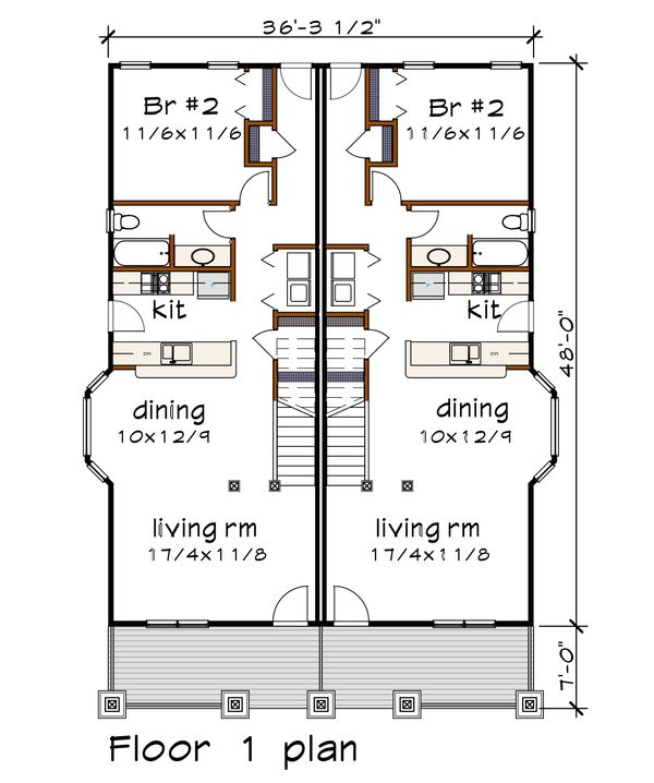 Craftsman Floor Plan - Main Floor Plan Plan #79-249