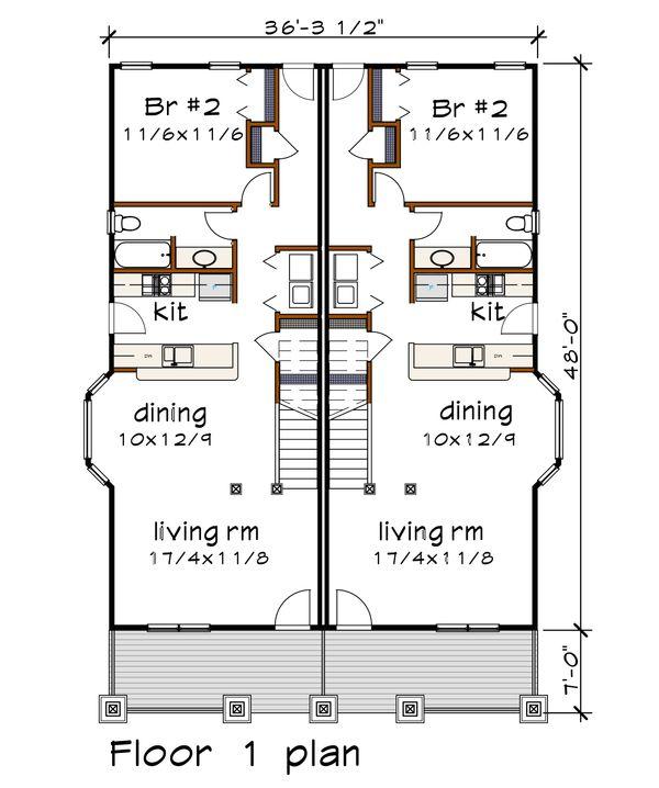 Dream House Plan - Craftsman Floor Plan - Main Floor Plan #79-249