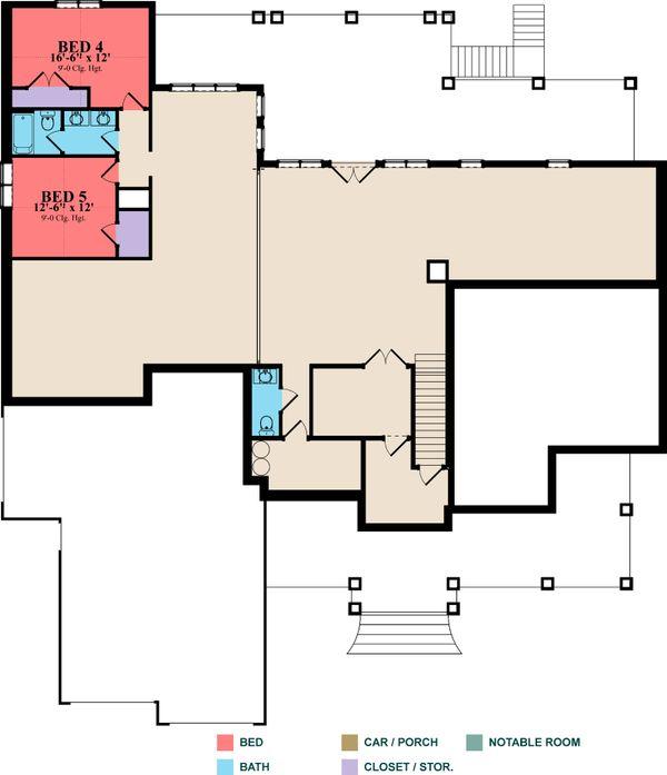 Craftsman Floor Plan - Upper Floor Plan #63-422