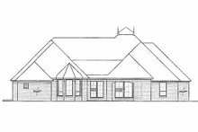 European Exterior - Rear Elevation Plan #310-968