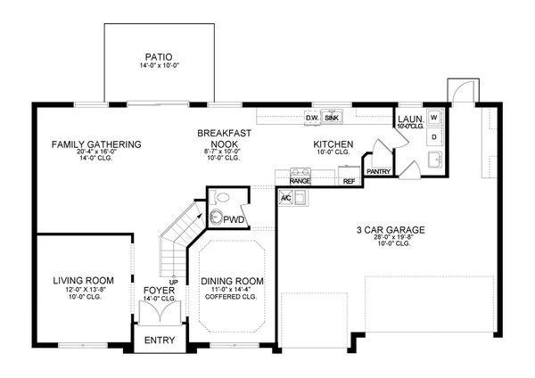 Traditional Floor Plan - Main Floor Plan #1058-199