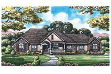 Home Plan - European Exterior - Front Elevation Plan #20-1820