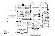 Tudor Style House Plan - 4 Beds 4 Baths 4934 Sq/Ft Plan #413-124 Floor Plan - Main Floor Plan