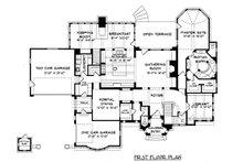 Tudor Floor Plan - Main Floor Plan Plan #413-124