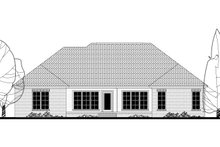 Home Plan - Traditional Exterior - Rear Elevation Plan #430-162
