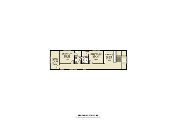 Farmhouse Floor Plan - Upper Floor Plan #1070-110