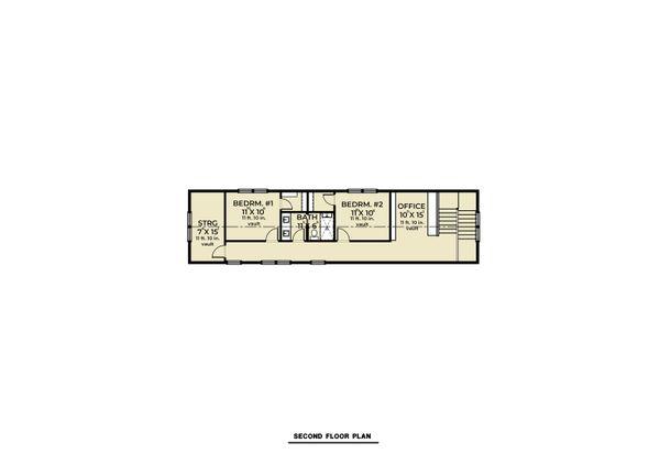 Farmhouse Floor Plan - Upper Floor Plan #1070-110