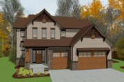 Craftsman Style House Plan - 4 Beds 3 Baths 2195 Sq/Ft Plan #20-2400 Exterior - Front Elevation