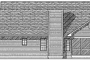 Traditional Style House Plan - 3 Beds 2.5 Baths 1733 Sq/Ft Plan #70-182 Exterior - Rear Elevation