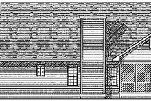 Home Plan - Traditional Exterior - Rear Elevation Plan #70-182
