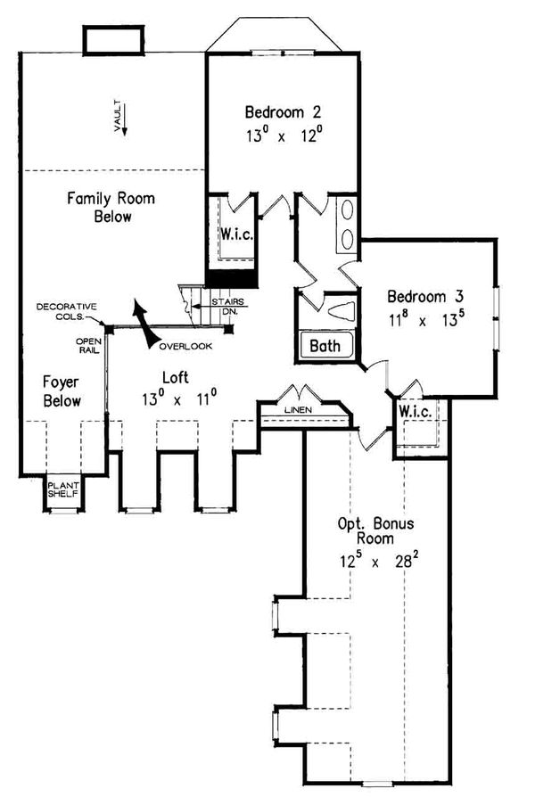 Country Floor Plan - Upper Floor Plan Plan #927-16