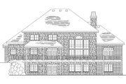 European Style House Plan - 5 Beds 3.5 Baths 2831 Sq/Ft Plan #5-191 Exterior - Rear Elevation