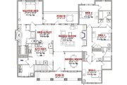 Traditional Style House Plan - 4 Beds 3 Baths 2419 Sq/Ft Plan #63-217 Floor Plan - Main Floor Plan
