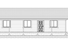 Country Exterior - Front Elevation Plan #1077-1