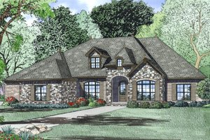 Dream House Plan - European Exterior - Other Elevation Plan #17-2497