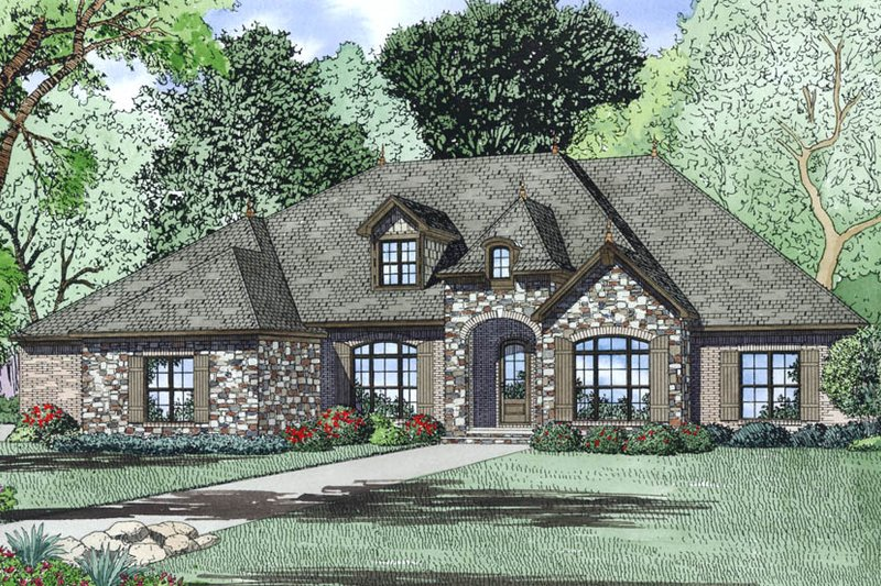 European Exterior - Other Elevation Plan #17-2497 - Houseplans.com