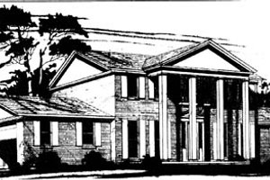 Southern Exterior - Front Elevation Plan #10-256