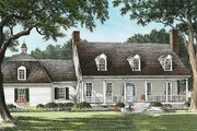 Country Style House Plan - 4 Beds 3 Baths 3062 Sq/Ft Plan #137-151 Exterior - Front Elevation