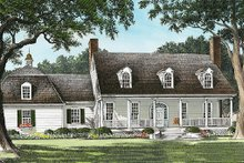 Architectural House Design - Country Exterior - Front Elevation Plan #137-151