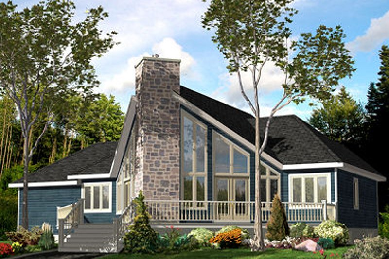 Contemporary Style House Plan - 3 Beds 2 Baths 1501 Sq/Ft Plan #138-223 Exterior - Front Elevation