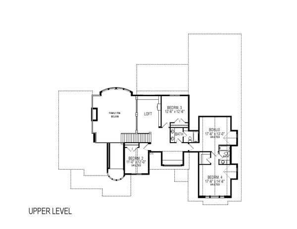 Craftsman Floor Plan - Upper Floor Plan Plan #920-24
