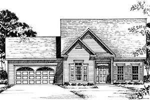 Traditional Exterior - Front Elevation Plan #37-169