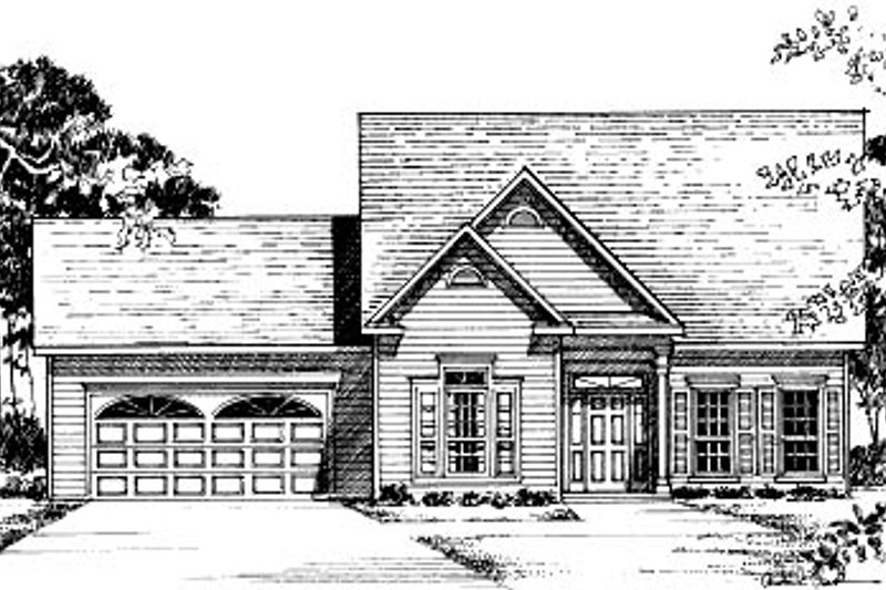 Traditional Style House Plan - 3 Beds 2.5 Baths 1902 Sq/Ft Plan #37-169 Exterior - Front Elevation