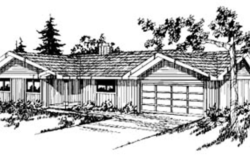 Ranch Exterior - Front Elevation Plan #60-122