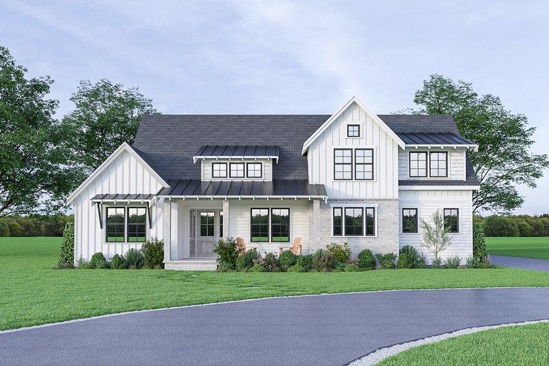 Home Plan - Farmhouse Exterior - Front Elevation Plan #1070-42