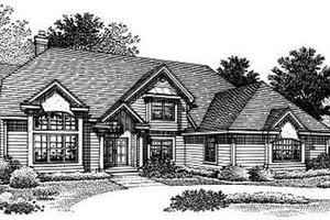 Traditional Exterior - Front Elevation Plan #50-180
