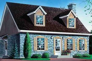 Cottage Exterior - Front Elevation Plan #25-4250