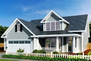 Dream House Plan - Traditional Exterior - Front Elevation Plan #513-2052
