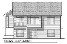 Dream House Plan - Ranch Exterior - Rear Elevation Plan #70-756