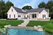 Farmhouse Style House Plan - 3 Beds 3.5 Baths 2484 Sq/Ft Plan #119-434 Exterior - Rear Elevation