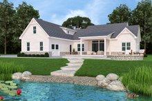 House Plan Design - Farmhouse Exterior - Rear Elevation Plan #119-434