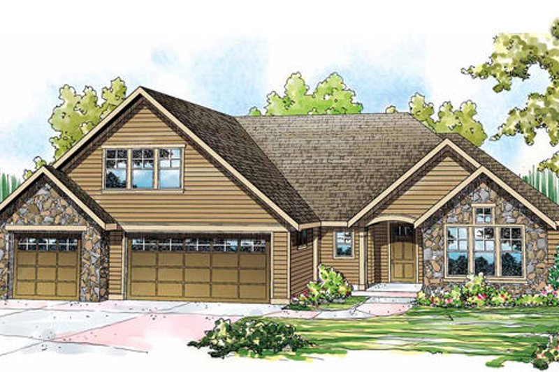 Traditional Exterior - Front Elevation Plan #124-843 - Houseplans.com