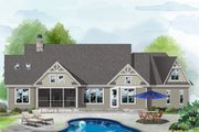 Ranch Style House Plan - 3 Beds 2.5 Baths 2134 Sq/Ft Plan #929-1088 Exterior - Rear Elevation